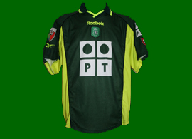 Camisola de jogo alternativa usada por Quim Berto 2000 2001 Sporting
