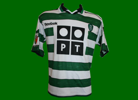 match worn Sporting Portugal jersey, player Paulo Bento, Portugal
