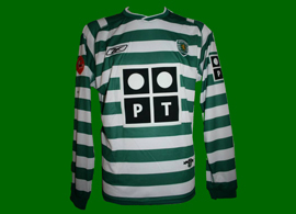 Sporting Lisbon long sleeves match worn jersey of Pedro Barbosa Portugal