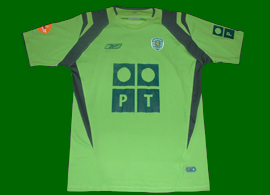 away shirt Match worn by Brazilian world champion Anderson Polga in League Galp Energia, Sporting 2004/05