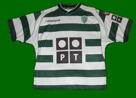 equipamento de jogo Sporting Ricardo Quaresma 2002 03