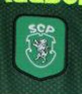 Equipamento de jogo do Rodrigo Fabri, Sporting 2000/01. Emblema com leão rompante
