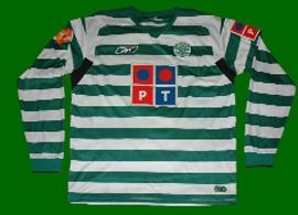 camisola de jogo do Rogério, às riscas 2004 2005