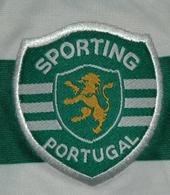 camisa de jogo do Rogerio Sporting Portugal, às riscas 2004 2005