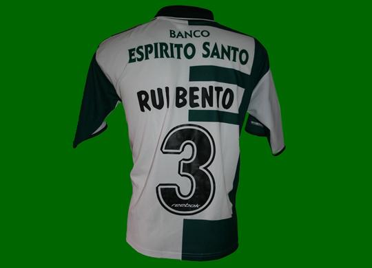 2002/03. Camisola Stromp de jogo do Rui Bento