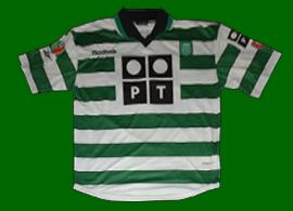 camisola de jogo do SCP Chiquinho 2000/01