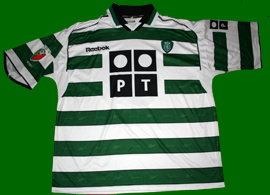 SCP match worn shirt Sporting Lisbon 2001 2002