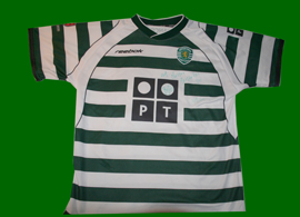 Sporting Lisbonne 2002 03 maillot signe Beto