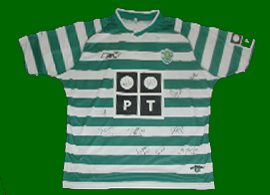Sporting Lissabon Portugal signed shirt Liedson 2003 2004