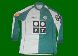 Sporting Lisbona Portogallo 2004 2005 maglia indossata Stromp UEFA final