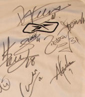 centennial shirt signed by the squad Sporting Lisbon