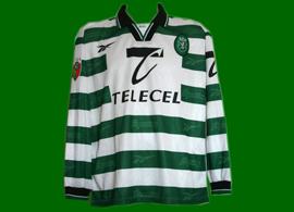 camiseta matchworn Sporting Portogallo 1998 1999 Simão Sabrosa