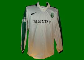 auswärts trikot UEFA Pokal Sporting Lissabon 1998 1999 Quiroga