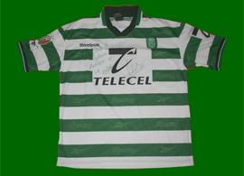 Sporting Lisbon match worn soccer jersey Pedro Barbosa champion 99/00
