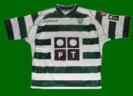 camisola de futebol do Sporting 2002 03 replica