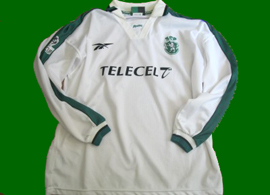 Sporting Lisbon UEFA third jersey 1998 99 white