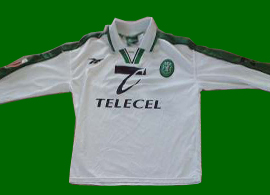 away jersey match worn Sporting Lisbon 1998 1999 Simao Sabrosa Atletico Madrid