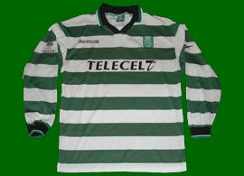 Sporting Lisbon UEFA Cup jersey, prepared for Santamaria 1999/00
