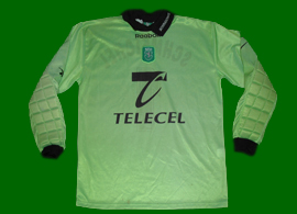 Peter Schmeichel goalkeeper replica jersey, in green. A classic shirt!