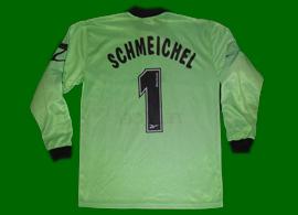 Equipamento de guarda-redes verde, personalizadoPeter Schmeichel. Um clássico!