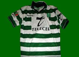 equipamento de jogo Sporting Rui Jorge Taça Reebok frente ao Atlético de Madrid 1999