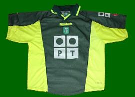 equipamento replica alternativo do Sporting Ricardo Sá Pinto Coração de Leão 2000 2001