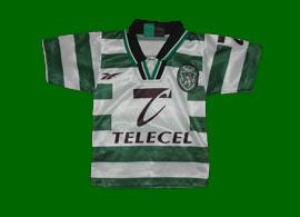 equipamentos para bebe da Reebok Sporting 1998 1999 Telecel