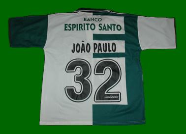 2002/02. Equipamento Stromp preparado para João Paulo. reebok