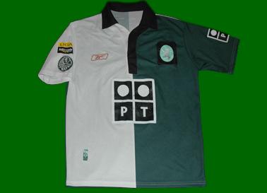 Stromp Centennial Sporting Lisbon away football shirt, match worn by Miguel Garcia