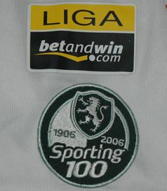 Stromp Centennial Sporting Lisbon kit, match worn by Miguel Garcia