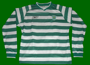 2003/2004. Matchworn shirt of Sporting B side football player Hugo Valdir