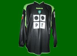 Sporting Lisbon soccer jersey matchworn by golden boot Jardel 2001/02 Brasil