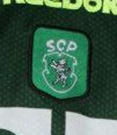 Equipamento alternativo do Sporting usado em jogo Cesar Prates 2000 2001 Sporting SCP