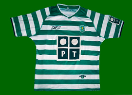Sporting home strip player issue top 2003 2004