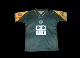 Camisola oficial alternativa de criança do Sporting 2002 03