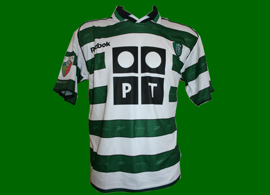2001/2002. Sporting Lisbon match worn soccer jersey of Joao Pinto, Sporting Clube de Portugal