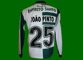 Camisola do Sporting de jogo Stromp de mangas compridas, do grande artista João Pinto Sporting de Portugal 2002 2003