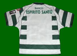 Sporting 2002/03. Camisola listada reebok player issue. Camisolas como esta, com estes detalhes, nunca foram vendidas