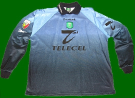 Match worn jersey from goalkeeper Schmeichel Sporting Lisbon 1999