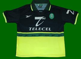 equipamento alternativa Reebok Sporting Clube de Portugal 1998 1999 Telecel