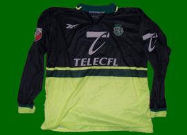camisola branca de jogo do Sporting 1998 99 Beto