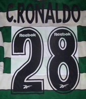 Sporting Lisbon Cristiano Ronaldo jersey unbelievably badly made player number