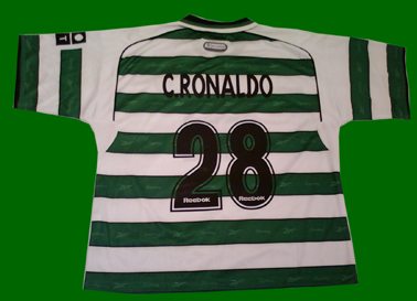 Fake Sporting Lisbon 2001/02 Cristiano Ronaldo shirt