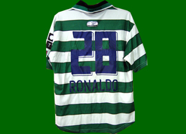 One of the most horrendous Sporting Lisbon Cristiano Ronaldo shirts ever to appear