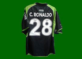 Sporting Lisbon 2001/2002, still another wrong away Cristiano Ronaldo Sporting shirt