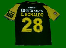 Sporting Cristiano Ronaldo shirt jersey maglia trikot maillot 2002 2003