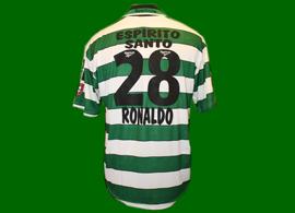 Cristiano Ronaldo Sporting Lisbon not match worn soccer jersey