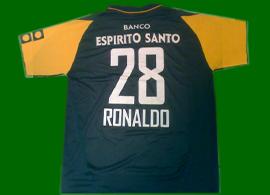 2002 2003 Cristiano Ronaldo auswarts fussball trikot falsche font Sporting Lissabon