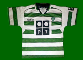 Sporting Lisbon Portugal 2001 2002 Cristiano Ronaldo fake shirt