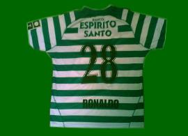 Cristiano Ronaldo maillot du Sporting Club Portugal non porte 03 04